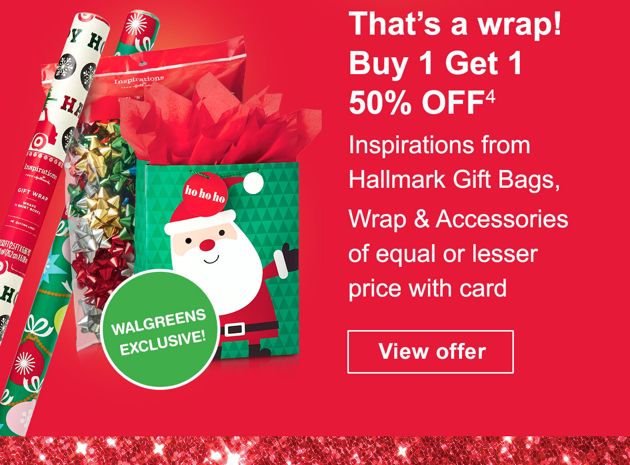 Walgreens sneak peek deals seasons savings shop great gifts thats a wrap buy 1 get 1 50 off4 inspirations from kristyandbryce Images