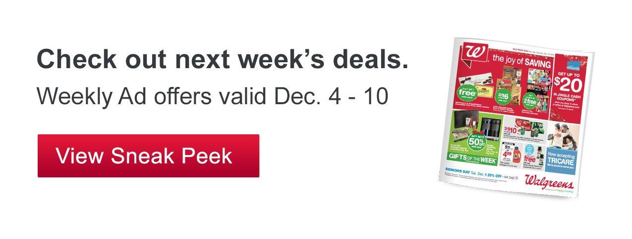 Walgreens: Sneak Peek Deals   Season's savings! Shop great gifts