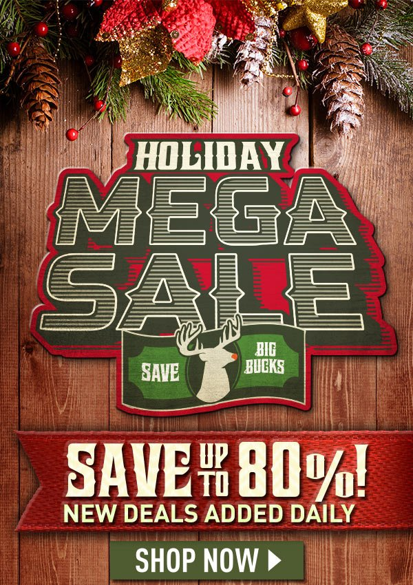 Holiday Mega Sale. Save Big Bucks! Save Up to 80%! New Deals Added Daily