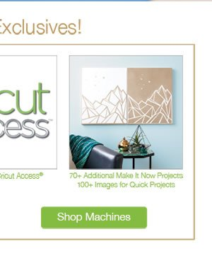 DIY Your Holidays in Minutes with Cricut Explore Air. SHOP MACHINE.