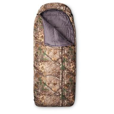 Guide Gear Hooded Realtree Camo Sleeping Bag, 0 Degree