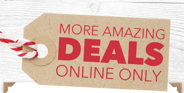 More Amazing Deals Online Only.