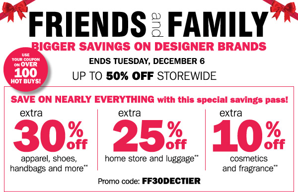 Bergners: Extra 30% off Friends & Family Coupon, Save on ...