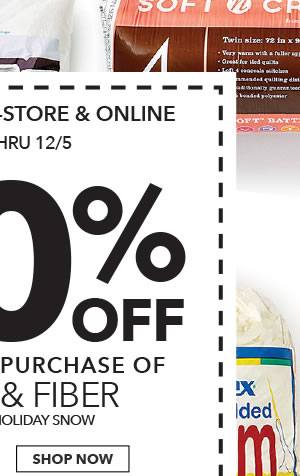 Final Day! In-store & Online 50% off Your Total Purchase of Foam & Fiber. SHOP NOW.