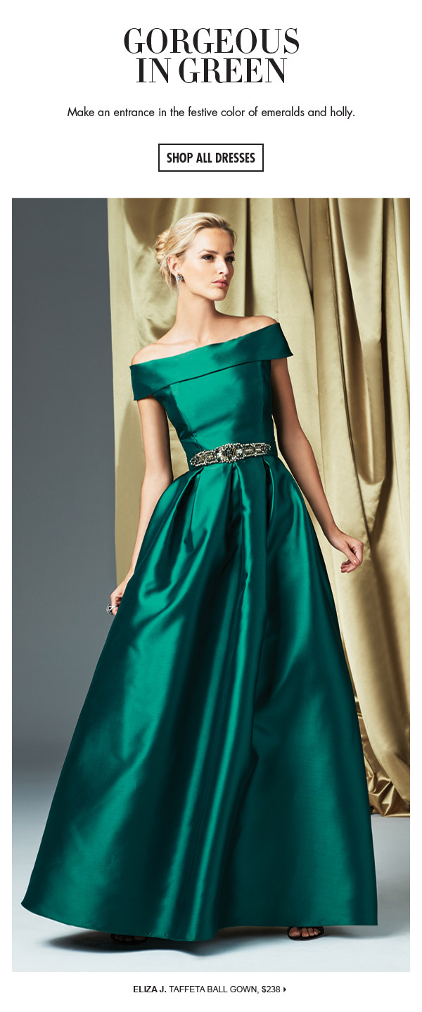 Dillards: Shades of green: evening gowns & dresses in taffeta ...