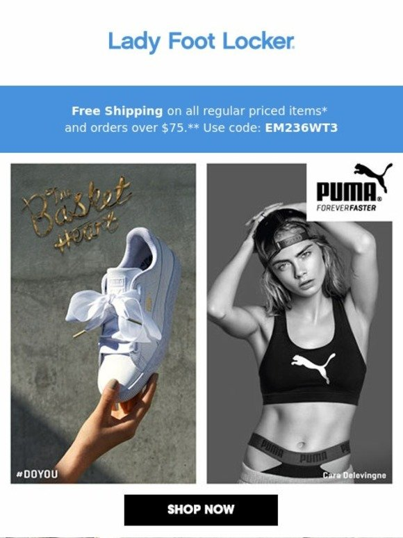 Puma Basket Heart Foot Locker