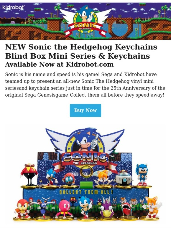 Kidrobot Inc New Sonic The Hedgehog Keychains Blind Box Mini Series Keychains Available Now At Kidrobot Com Milled