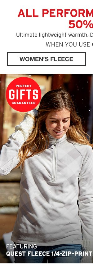 ALL PERFORMANCE FLEECE 50% OFF | SHOP WOMAN'S