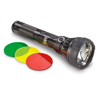 HQ Issue Flashlight, 750 Lumens, 3 Colored Lenses