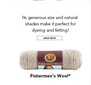 Its generous size and natural shades make it perfect for dyeing and felting! SHOP NOW.