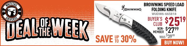 Deal of the Week: Browning Speed Load Folding Knife