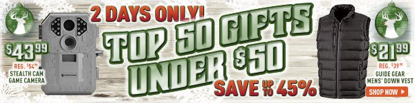 2 Days Only - Top 50 Gifts Under $50! Save Up To 45%!