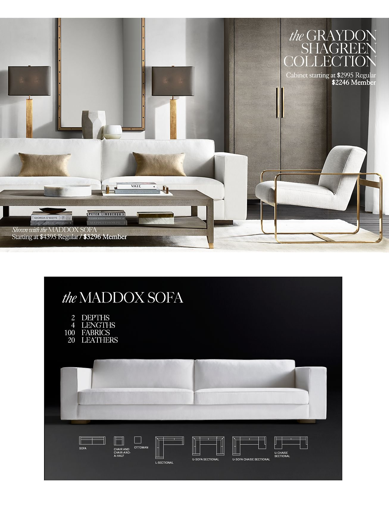 Restoration Hardware: Save 25% On The Graydon Shagreen Collection With The  RH Members Program | Milled