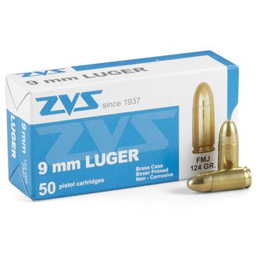 ZVS, 9mm Luger, FMJ, 124 Grain, 250 Rounds