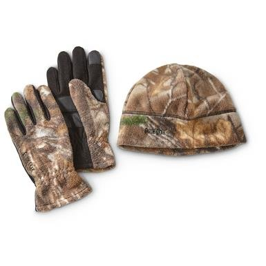 Guide Gear Camo Beanie and Gloves Set
