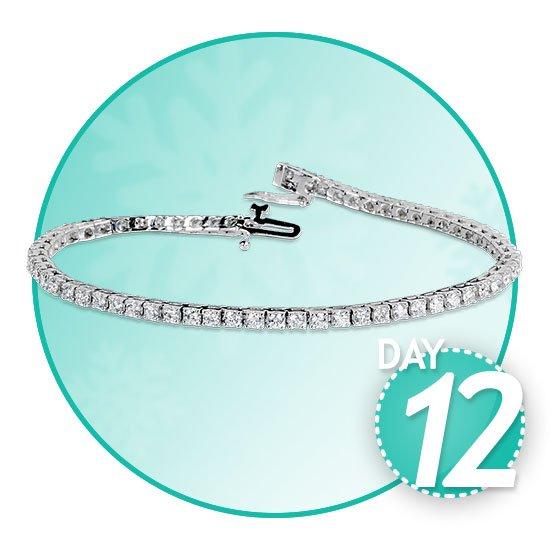 2453b8eb0 Round Brilliant 3.00ctw VS2 Clarity, I Color Diamond 14kt White Gold  Bracelet
