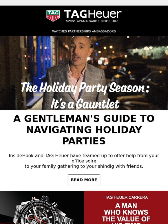 bddd99980862 Tag Heuer: A gentleman's guide to navigating holiday parties | Milled