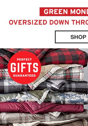 OVERSIZED DOWN THROW | SHOP NOW