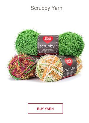Red Heart Scrubby Yarn. BUY YARN.