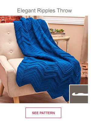 Elegant Ripplies Throw. SEE PATTERN.