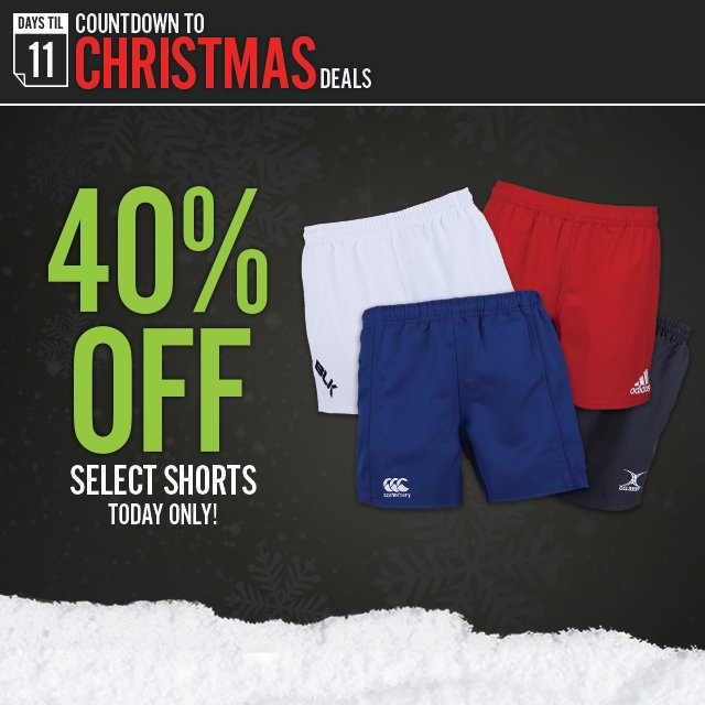 405ef348494 World Rugby Shop: TODAY ONLY: Save 40% on Select Rugby Shorts! | Milled