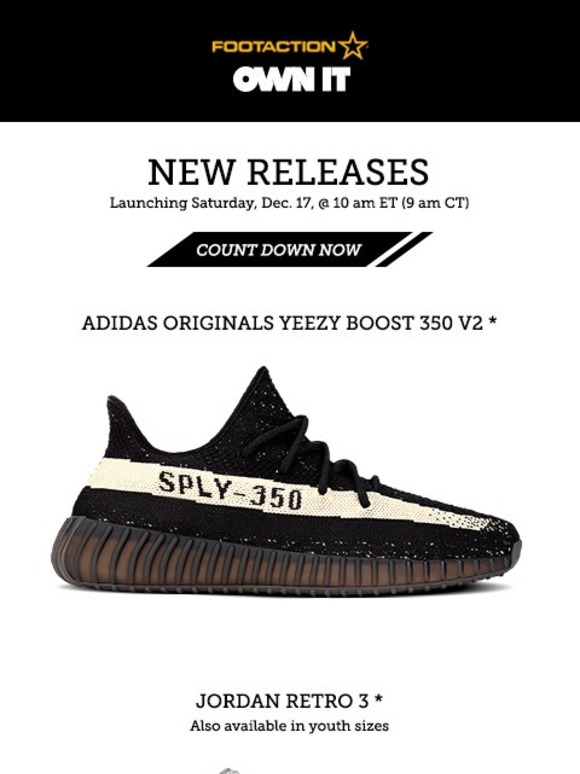 d3016b3942f ... free shipping footaction adidas originals yeezy boost 350 v2 and jordan  retro 3 own it 12.17