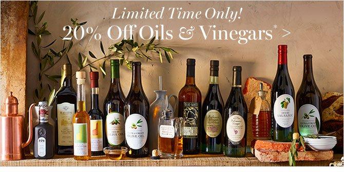 20% Off Oils & Vinegars