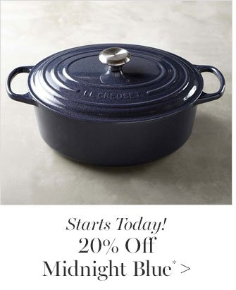 Starts Today! 20% Off Midnight Blue*