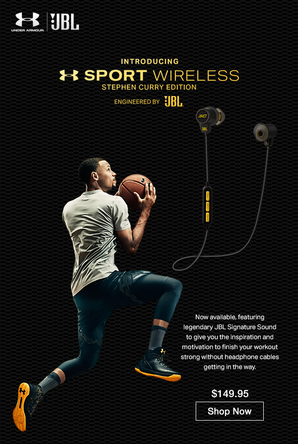 4806bd1ff2c JBL: Under Armour x Stephen Curry Headphones. Workout Like an MVP ...