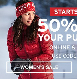 50% OFF YOUR PURCHASE ONLINE & IN STORES| MEN'S SALE