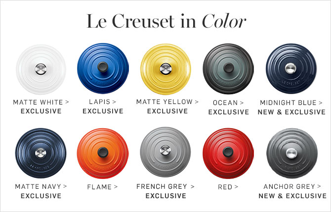 Le Creuset in Color