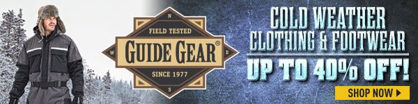 Guide Gear Cold Weather Clothing & Footwear! Up to 40% Off! Prices in this email are good while supplies last through December 22, 2016.