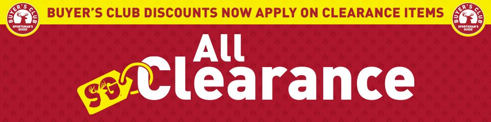 Buyer's Club discounts now apply on Clearance items! Last Chance Best Deals! All Clearance Items