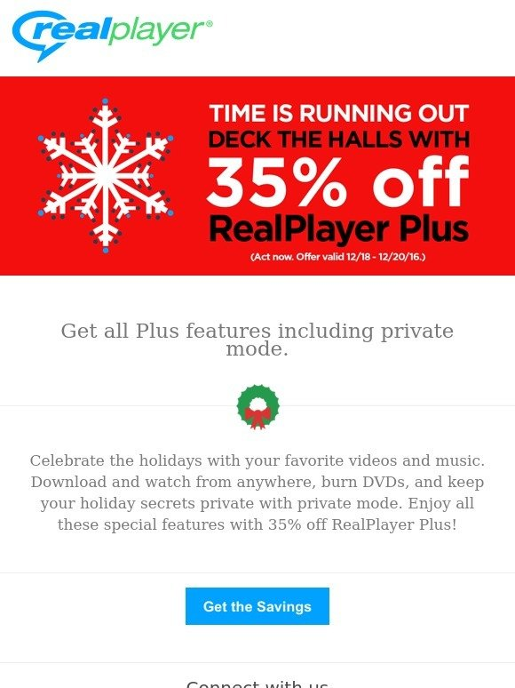 RealPlayer Cloud: Our holiday gift to you  35% off