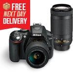 D5300 DSLR <br />with 18-55mm & <br />70-300mm Lenses