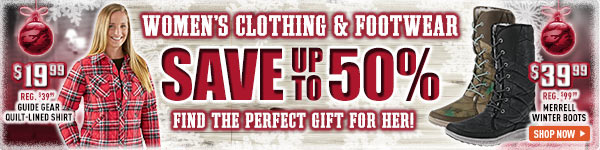 Women's Clothing & Footwear! Save up to 50%. Find the Perfect Gift for Her! Prices in this email are good while supplies last through December 24, 2016.