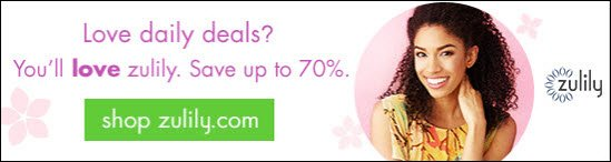 Love daily deals? You'll love zulily. Save up to 70%.