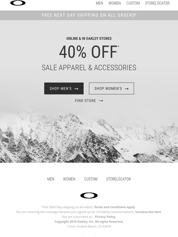 eb47bee2d1 Oakley  Free next day shipping + 40% off select items