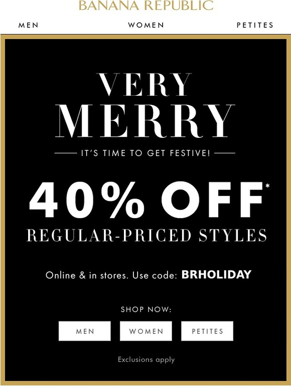 I work at Banana Republic & the employee discount is 50 percent off full sale items, and 30 percent off sale items. These discounts also carry over to Old Navy & Gap since it's all owned by the.