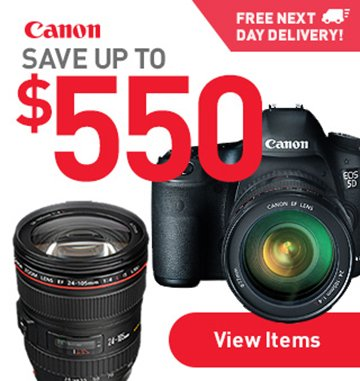 Canon Save Up to $550