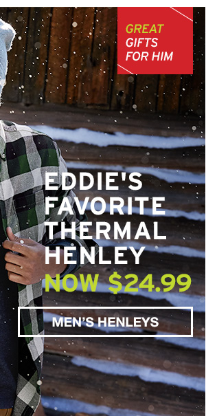 EDDIE'S FAVORITE THERMAL HENLEY | MEN'S HENLEY