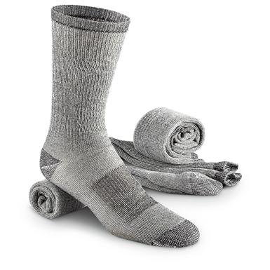 Guide Gear Men's Merino Wool Blend Crew Socks, 3 Pairs
