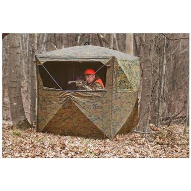 Guide Gear Silent Adrenaline Camo Ground Hunting Blind