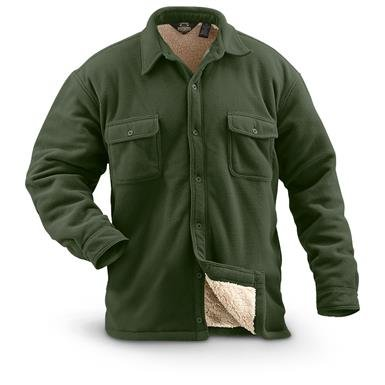 Guide Gear Men's Fleece-Lined CPO Shirt