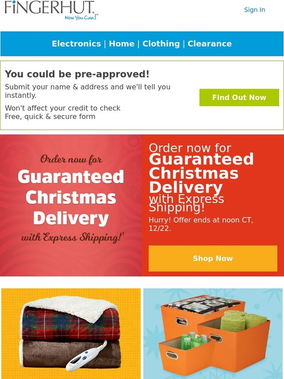 Fingerhut Guaranteed Christmas Delivery 2020 Fingerhut: Fingerhut: Guaranteed Christmas Delivery with Express