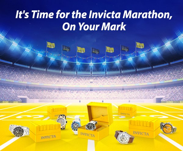 It's Time for the Invicta Marathon, On Your Mark