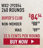 260 Rounds, just 32.5 cents per round.