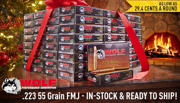 .223 Wolf Gold 55 Grain FMJ... In-Stock & Ready to Ship!