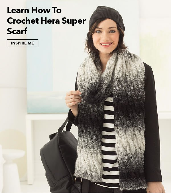 How to crochet a Hera Super Scarf. INSPIRE ME.