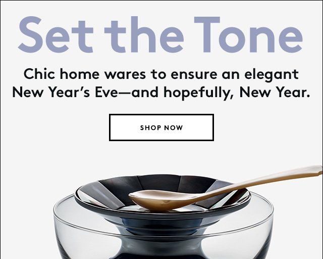 Your New Year's Eve party just got chicer.